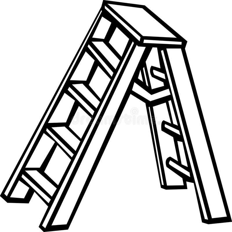 stepladder vektor illustrationer