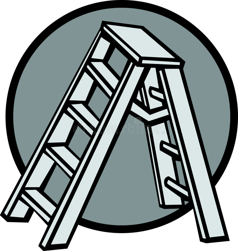 stepladder stock illustrationer