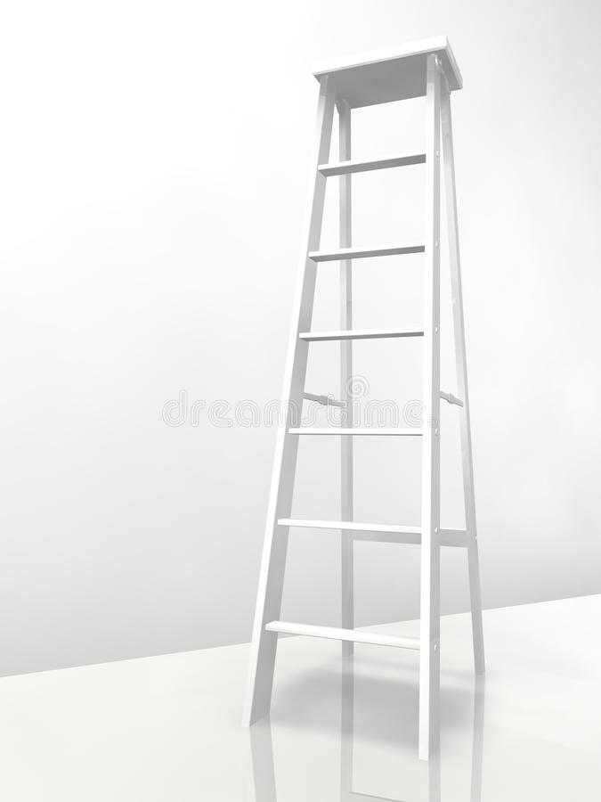 stepladder 3d stock illustrationer