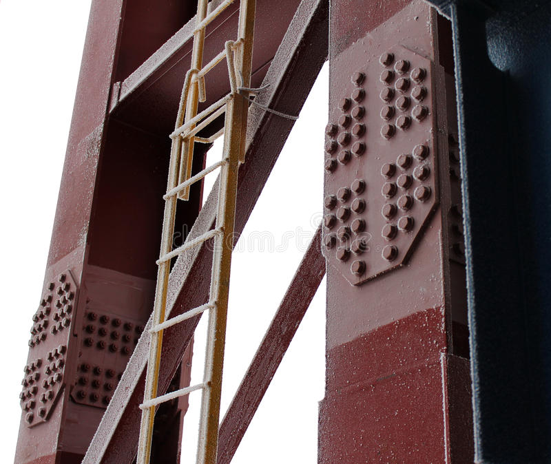 Download The Stepladder At The Column Stock Photo - Image: 23138554