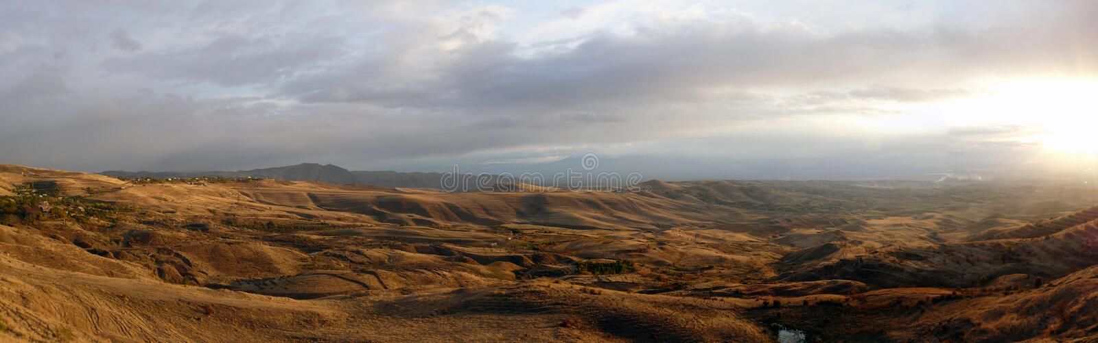 Download Steppe Landscape On A Decline Panorama Stock Photo - Image: 22269854