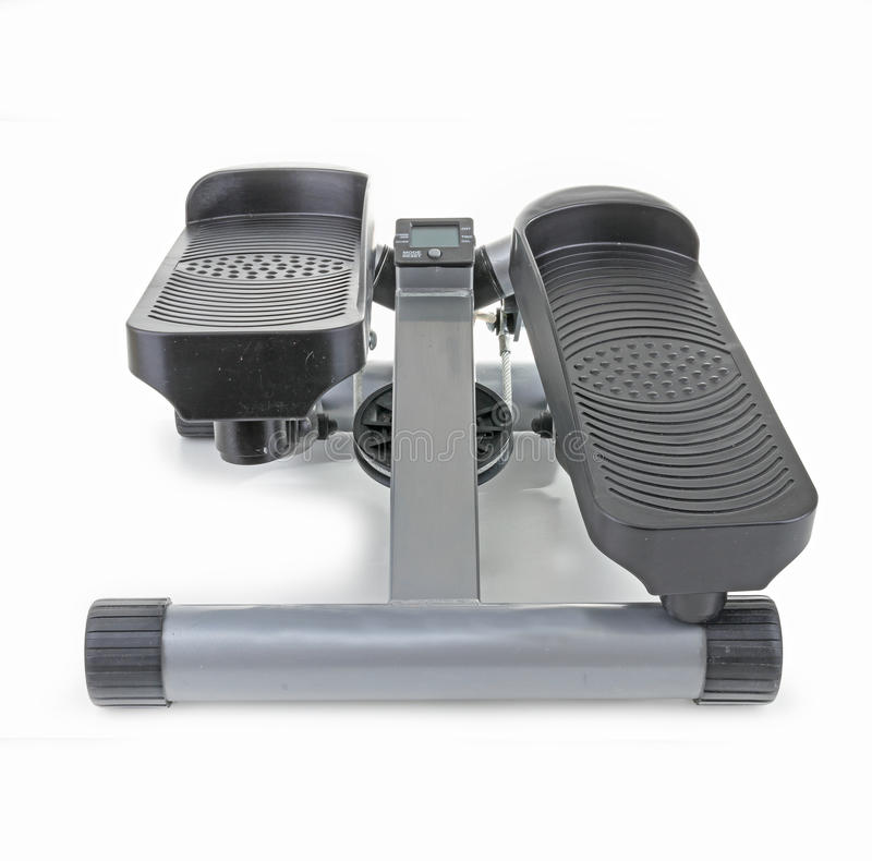 Stepper. Isolated stepper machine on white background royalty free stock images