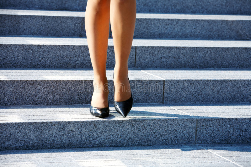 Download Stepping Down Stock Image - Image: 5503091