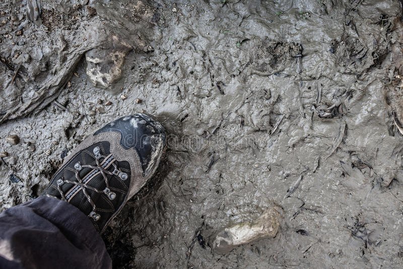 Download Stepping in mud stock photo. Image of riverbed, mountaineering - 31377854