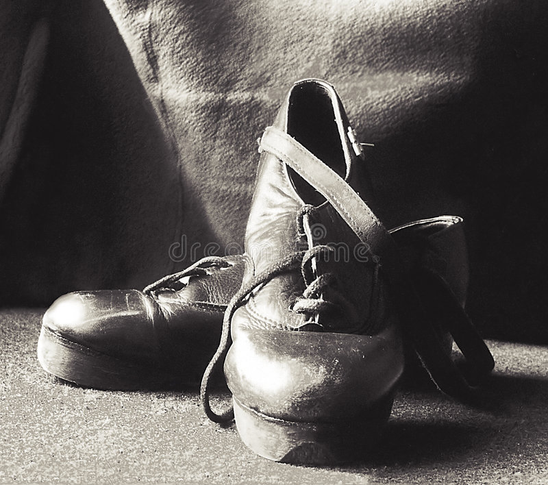 Stepping shoes stock photography