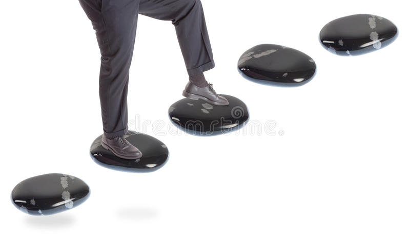 Stepping Stone Concepts: Going Up stock photos