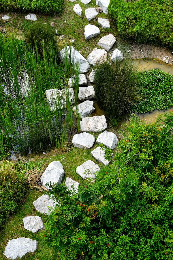 The Stepping Stone Path stock photos