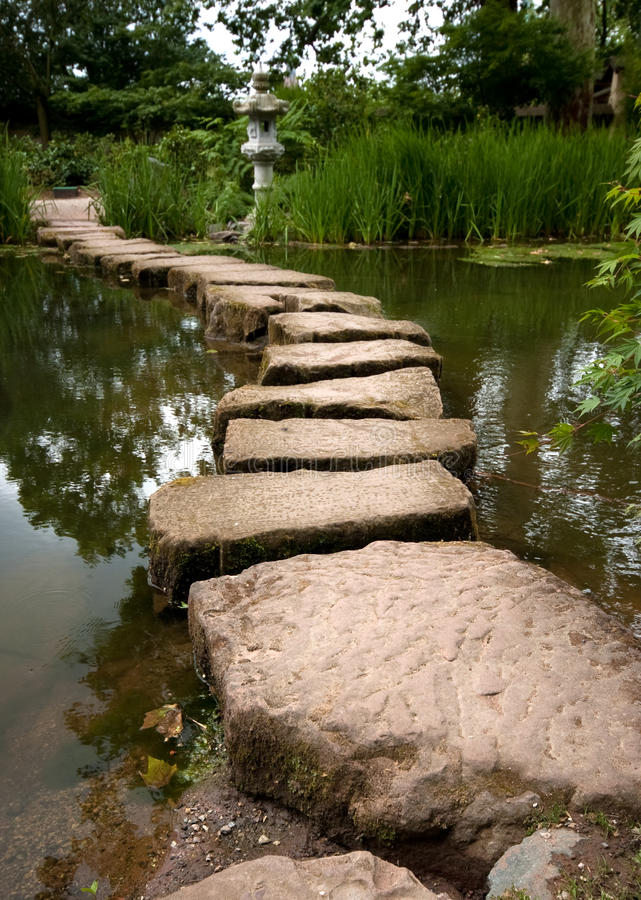 Download Stepping stones stock photo. Image of serene, stone, path - 12646994