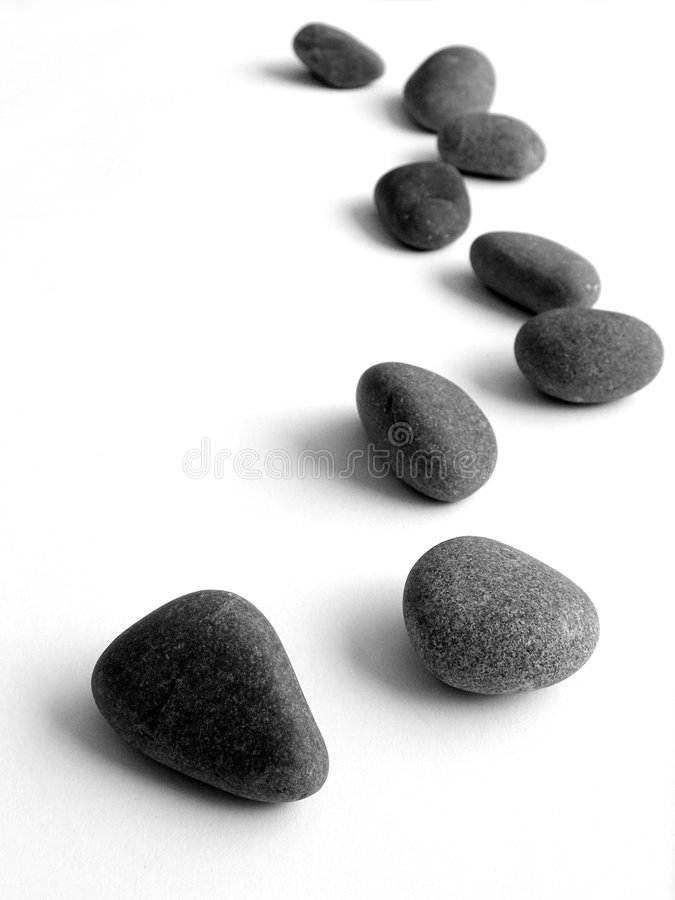 Stepping stones isolated royalty free stock photos