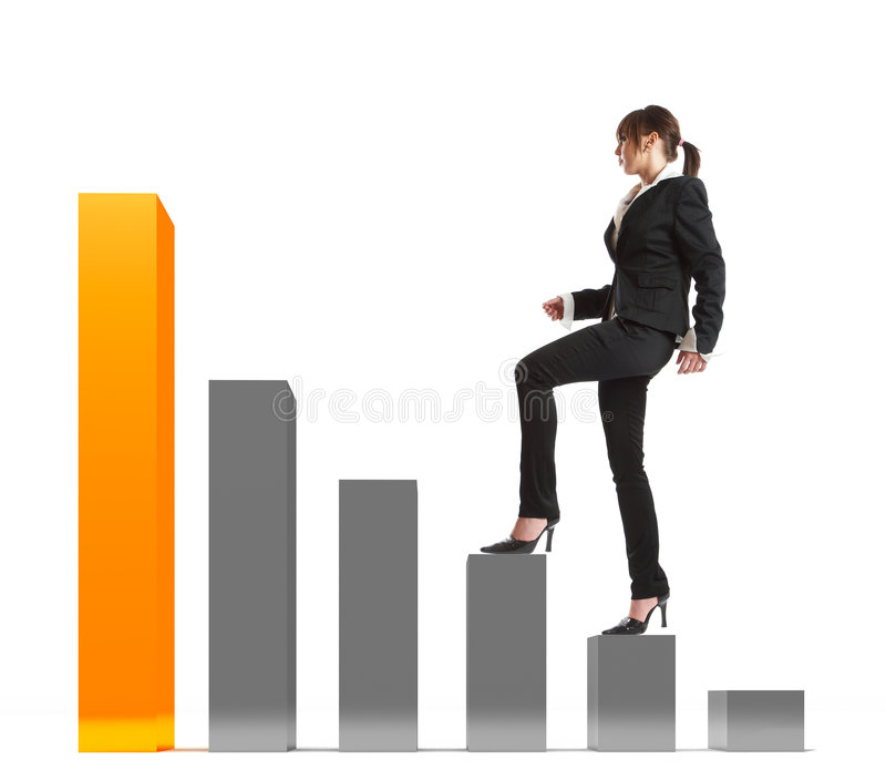 Stepping Up! stock photography