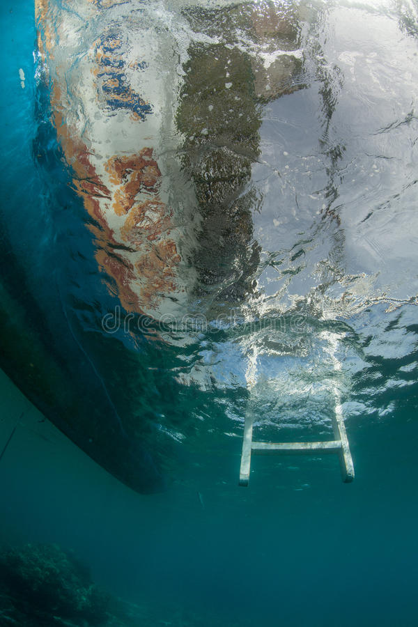 Download Steps back to the boat stock photo. Image of diving, aquatic - 28150130