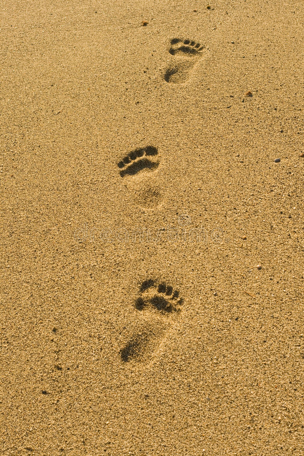 Steps on the beach royalty free stock images