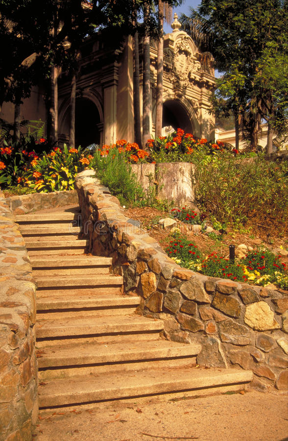Steps by the Casa de Balboa royalty free stock images