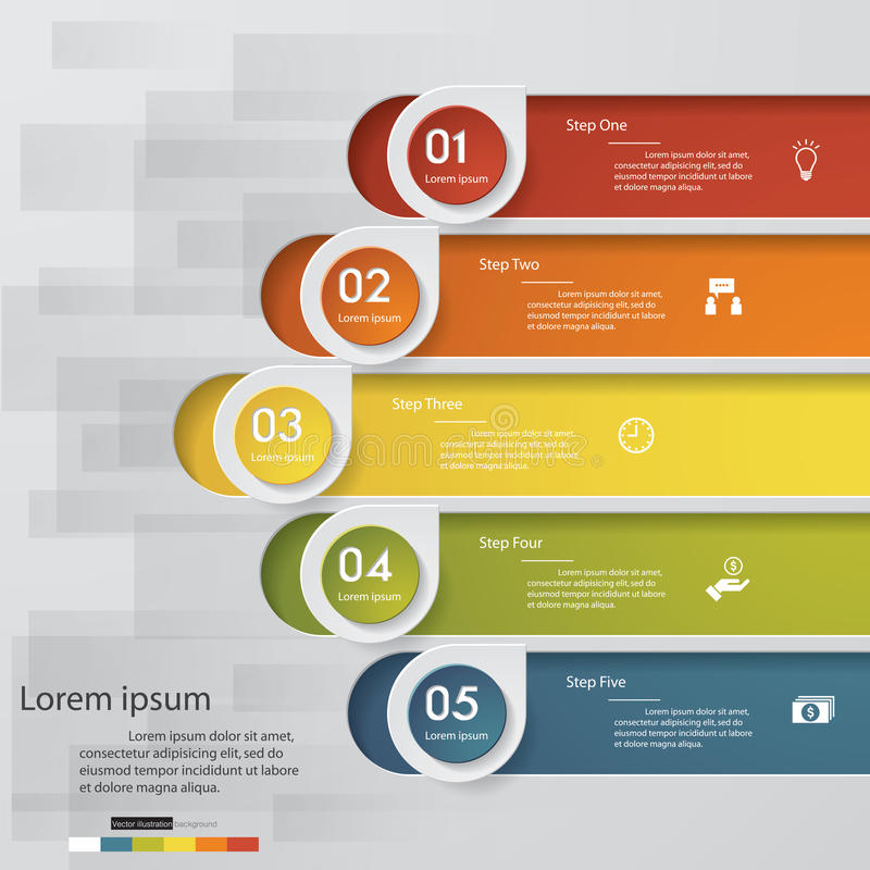 5 steps chart template/graphic or website layout. Vector illustration vector illustration