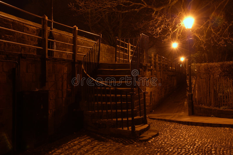 Download Steps in The Dark stock photo. Image of night, arch, stone - 2095120