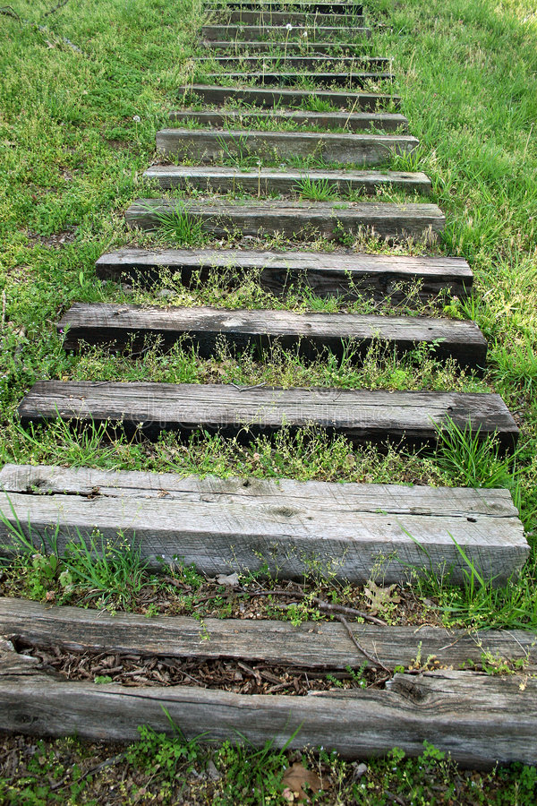 Download Steps In The Grass stock photo. Image of hill, broken, wood - 102068