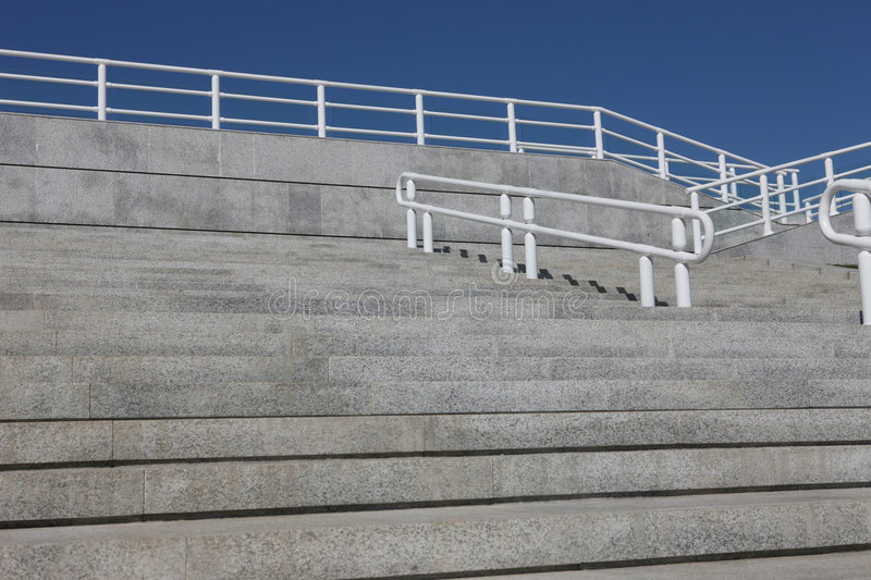 Steps And Handrail Stock Photo
