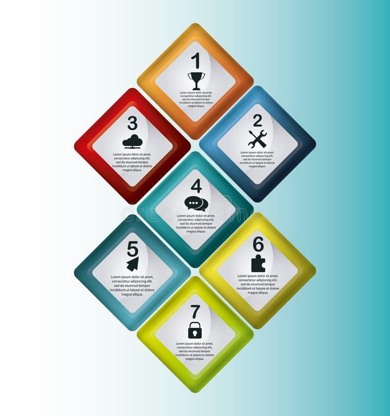 Steps icons desig vector illustration