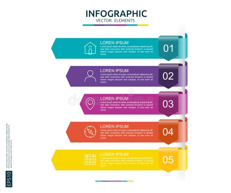 5 steps infographic timeline design template with 3d arrow paper timeline design template with 3d arrow paper element business concept fbccfo Choice Image