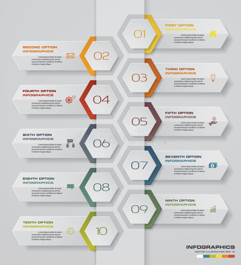 Steps Infographics Element Chart For Presentation Eps  Stock