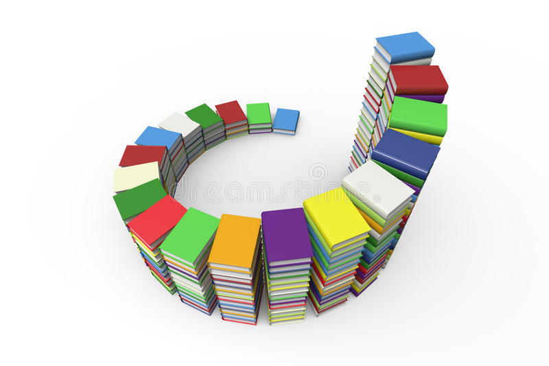 Steps made out of books stock illustration