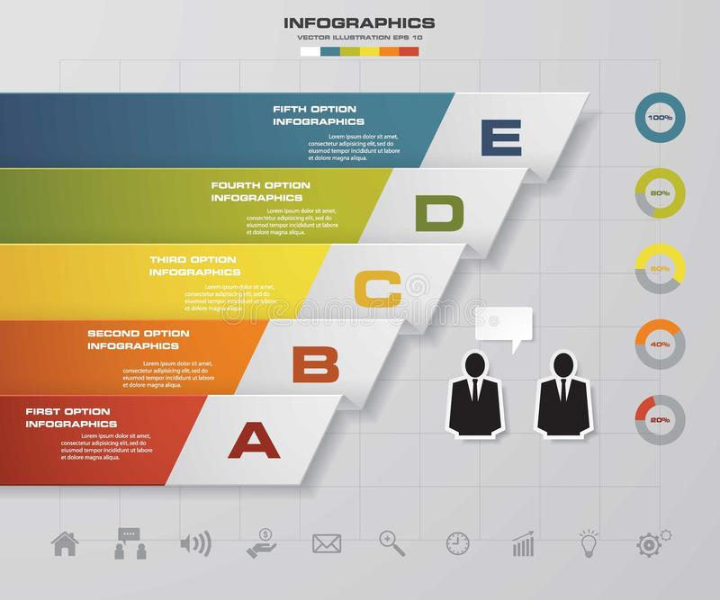 5 steps presentation template/5 options/ wing shape graphic or, Powerpoint templates