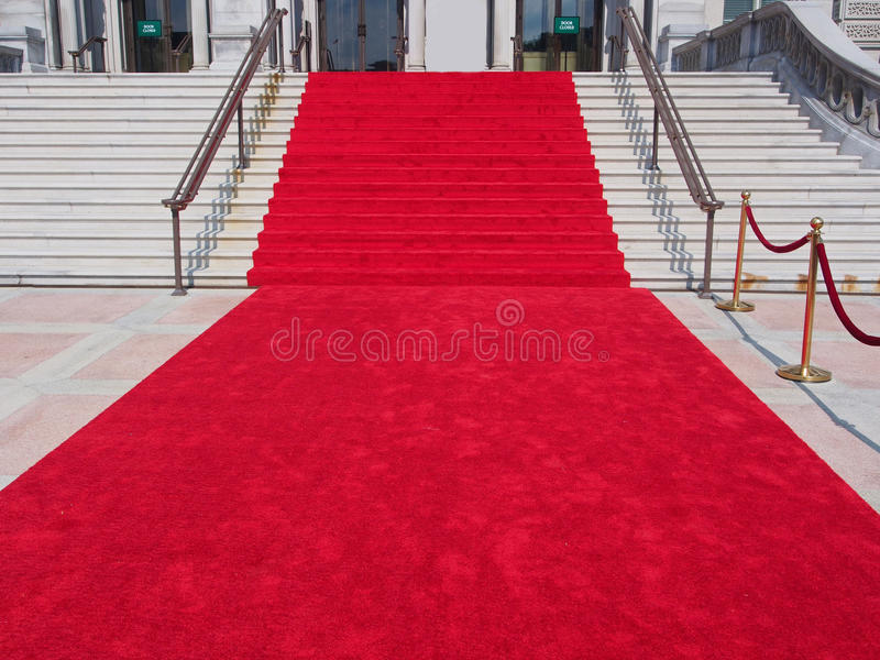 Steps with red carpet royalty free stock photos