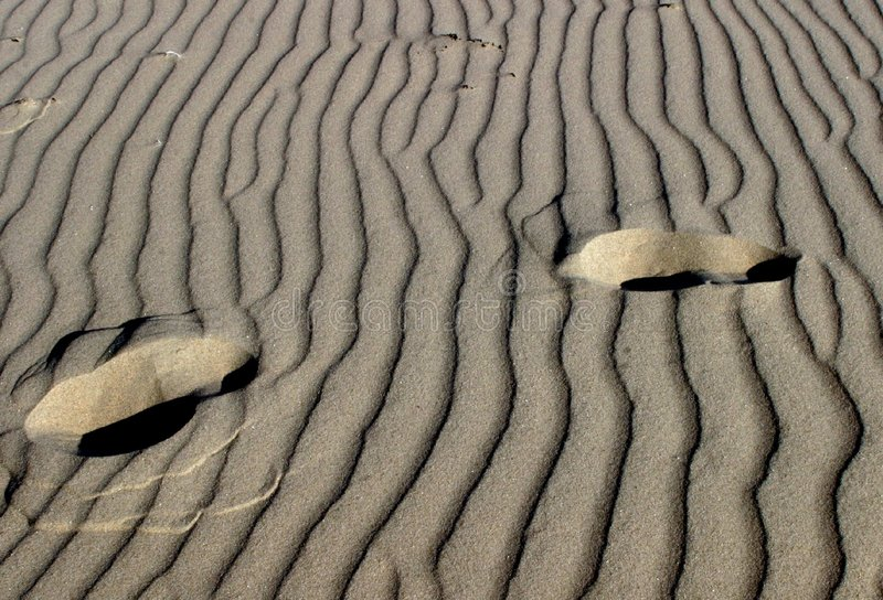 Download Steps on sand stock image. Image of abstract, footprints - 10099
