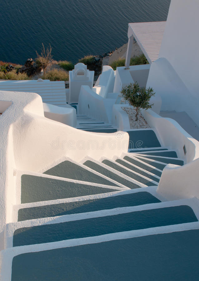 Steps in Santorini, Greece stock image