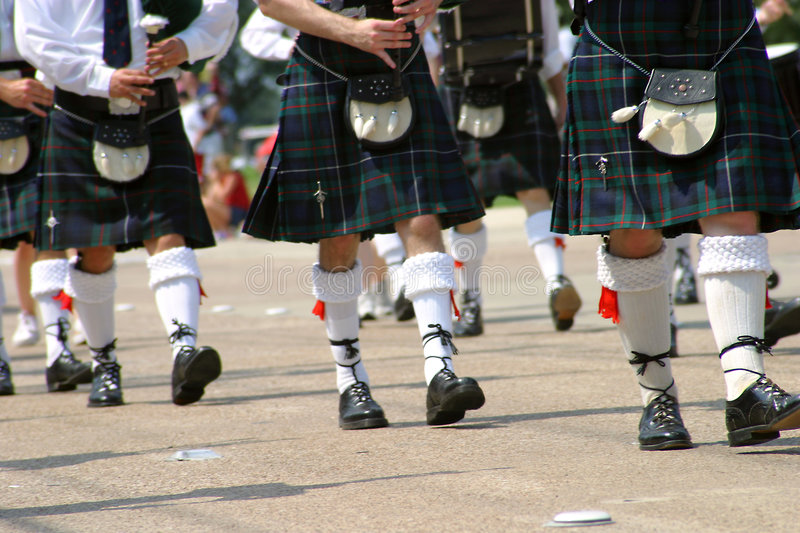 Download Steps and Skirts stock photo. Image of feet, kilts, march - 13536