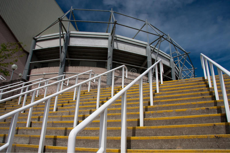 Steps at St James' Park, Newcastle stock images