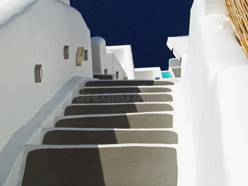 Steps in Santorini Greece royalty free stock images