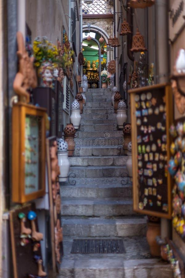 Steps of Taormina royalty free stock image