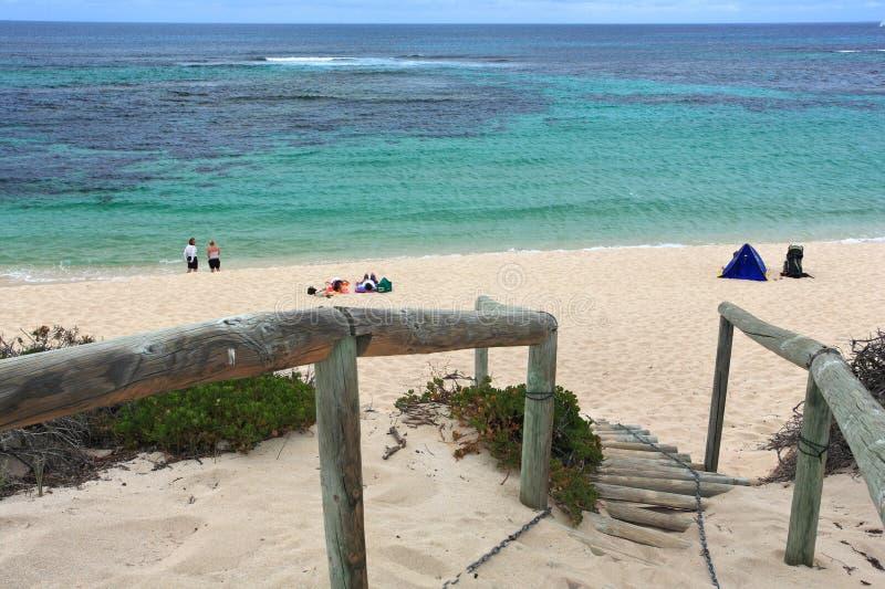 Steps to beach,Western Australia stock photography