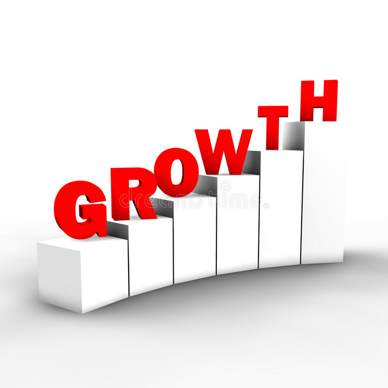 Steps to growth royalty free stock image