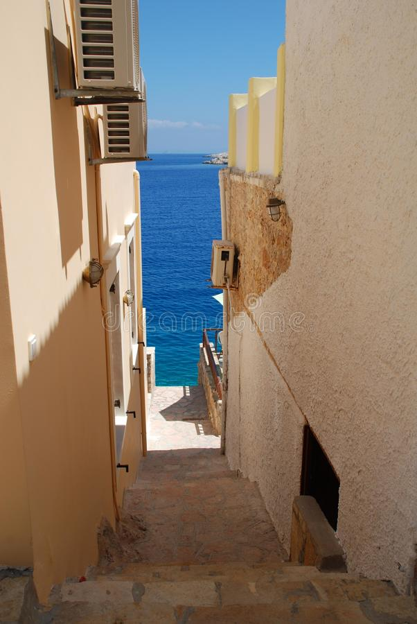 Download Steps To The Harbour, Halki Stock Photo - Image: 16687062