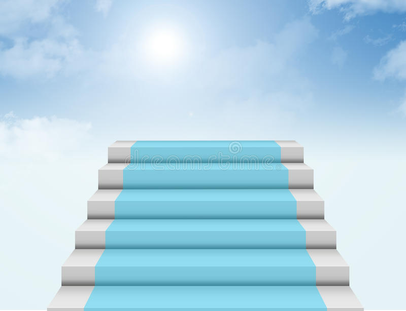 Steps to heaven royalty free illustration
