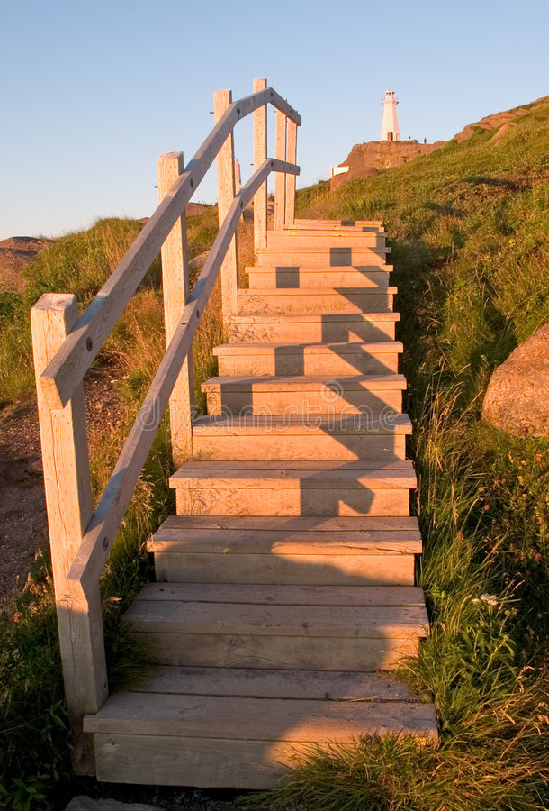 Steps To Lighthouse Stock Photo