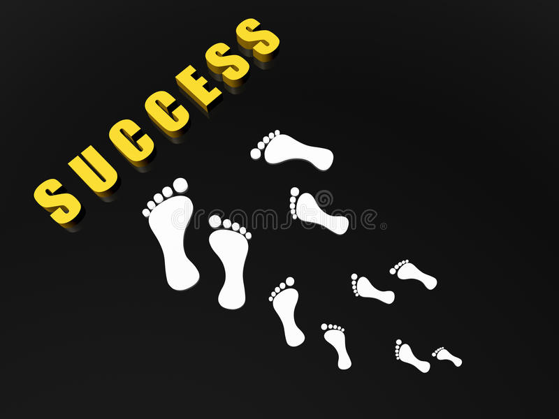 Steps to success royalty free illustration