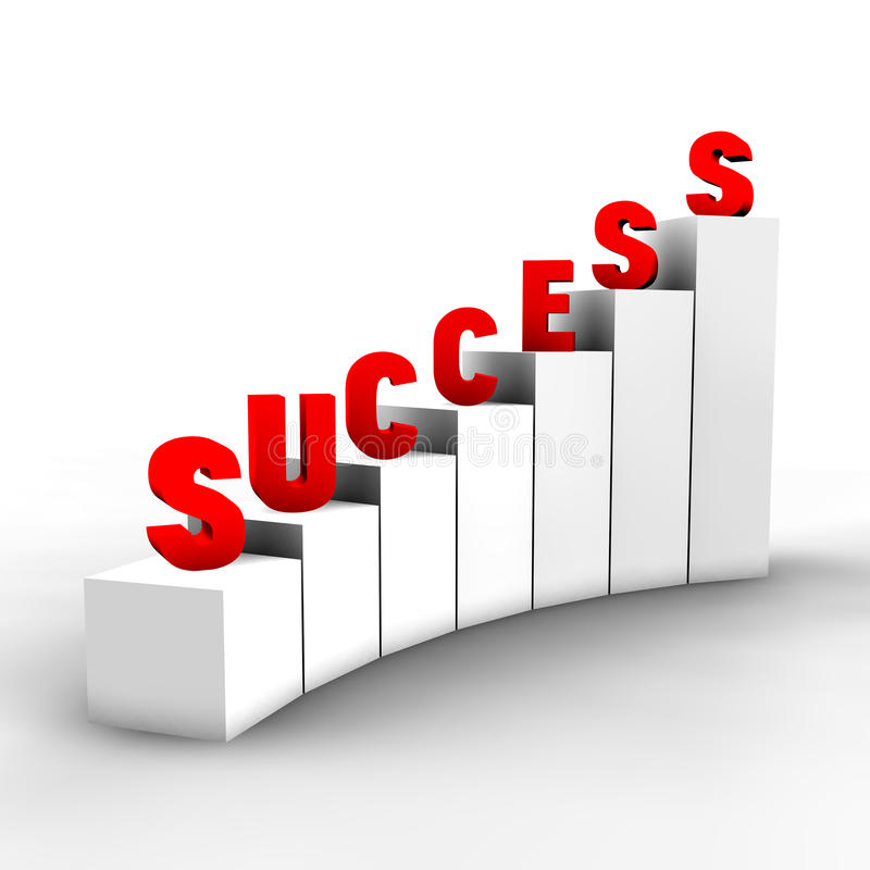 Steps to success royalty free stock photography