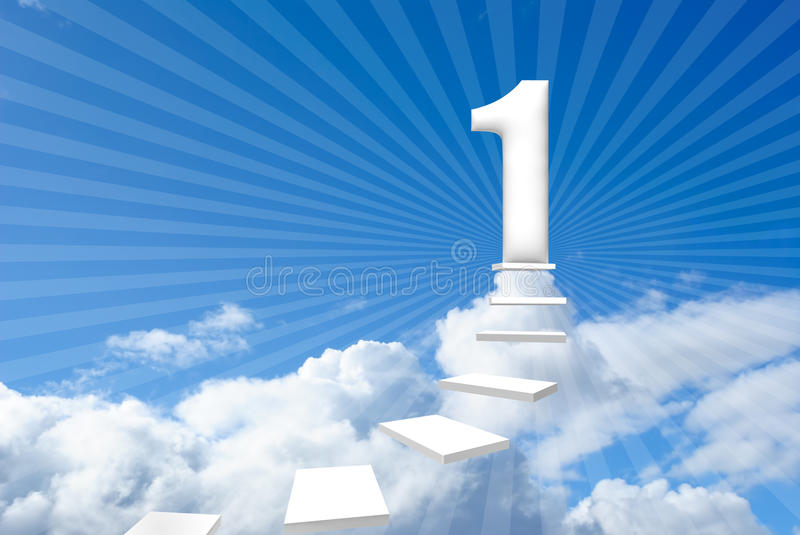 Steps to success stock photo