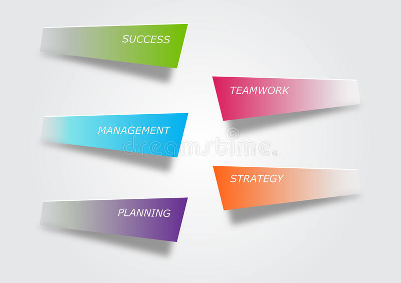Steps to success stock images