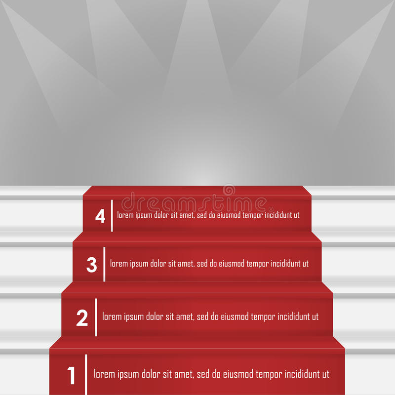 Steps to success image vector illustration