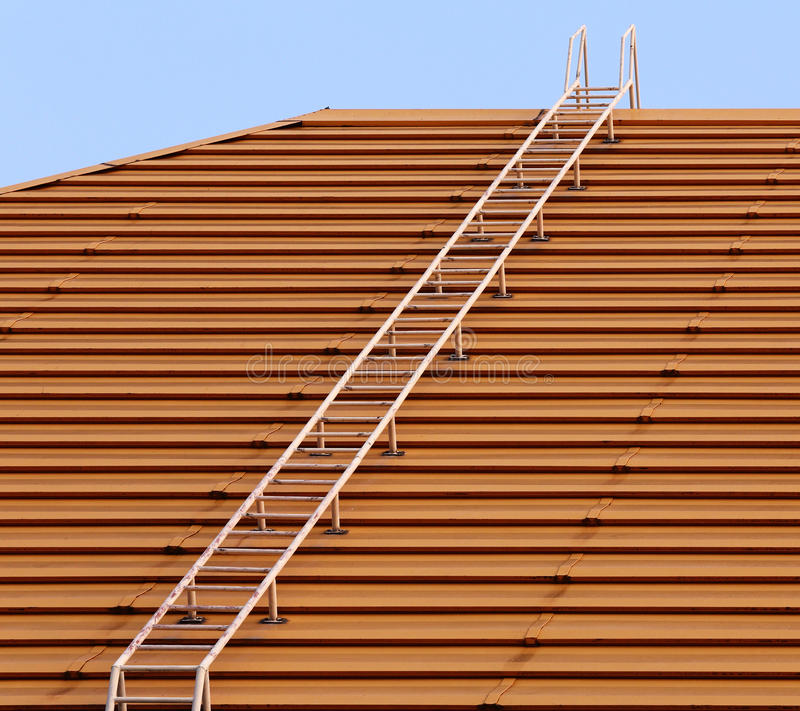 Download Steps to the top stock photo. Image of roof, metal, reach - 27449496