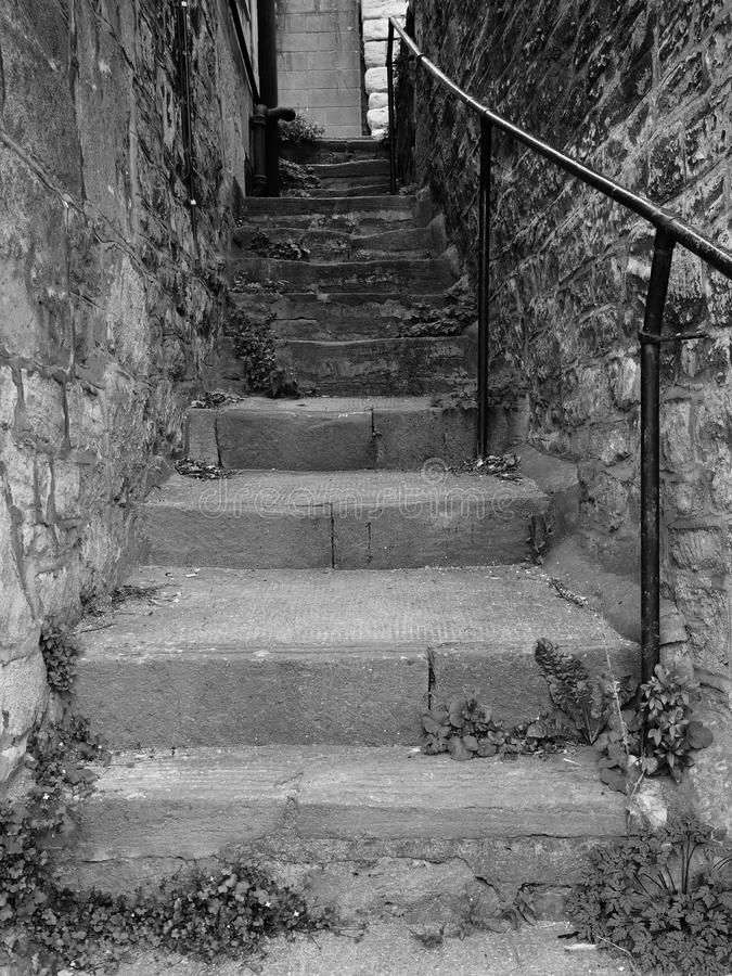 Download Steps up a Dark Alley stock image. Image of climb, dark - 15684981