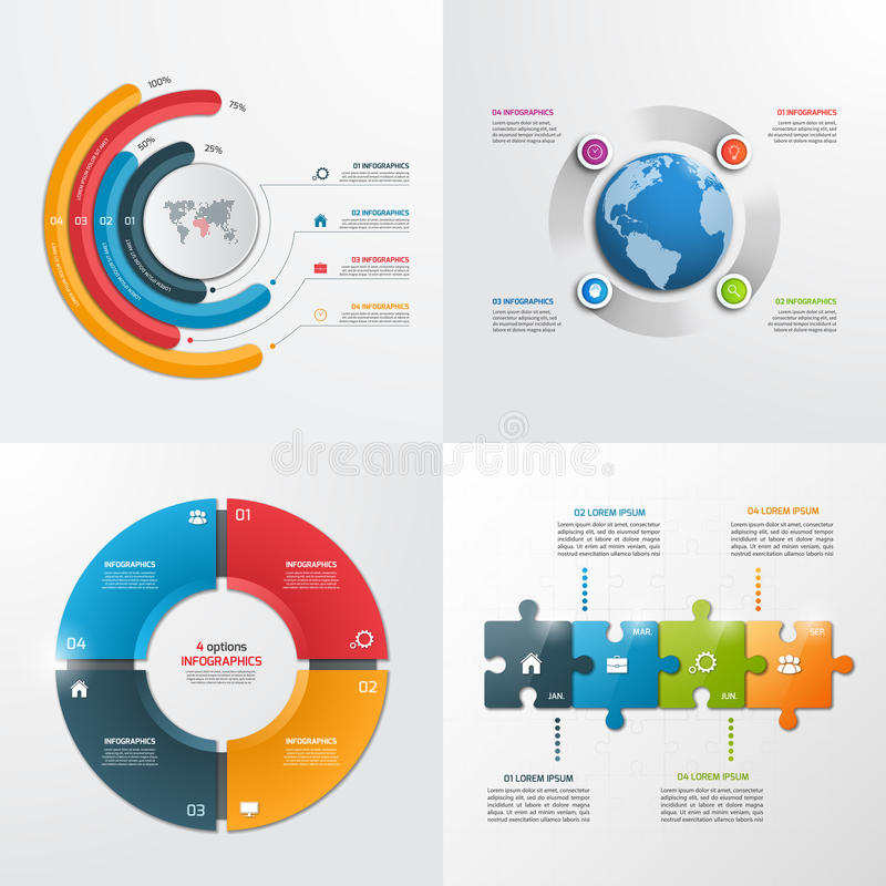 4 steps vector infographic templates. vector illustration