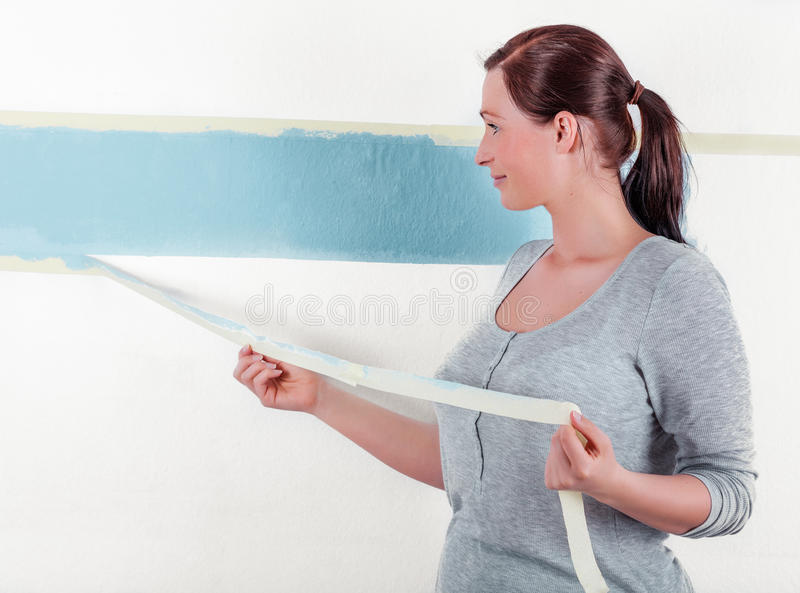 Steps wall paint stock images