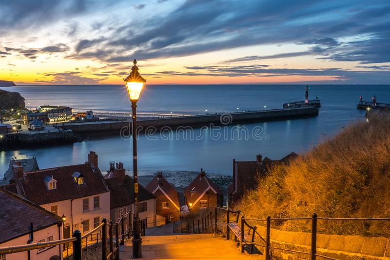 199 Steps Whitby, North Yorkshire, stock image