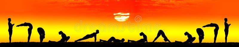 Download Steps Of Yoga Surya Namaskar Sun Salutation Stock Photo - Image: 21328526