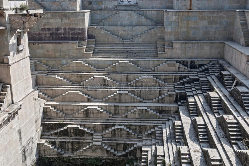 Stepwell in Bundi, India royalty-vrije stock foto